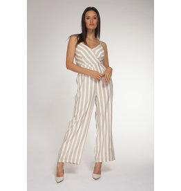 BPE - Ecru Wide Stripe Jumpsuit