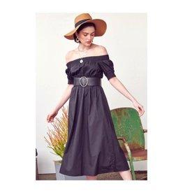 La Lavon La Lavon - Smocking Off Shoulder Midi Dress
