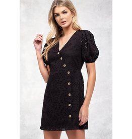 Blu Pepper - Eyelet Dress With Buttons