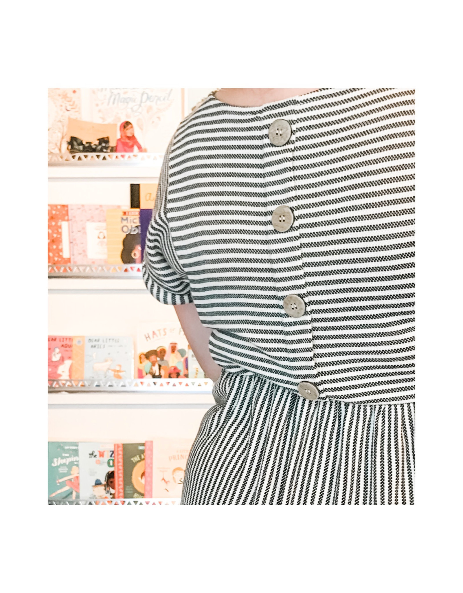 Blu Pepper Blu Pepper - Stripe Dress With Buttons