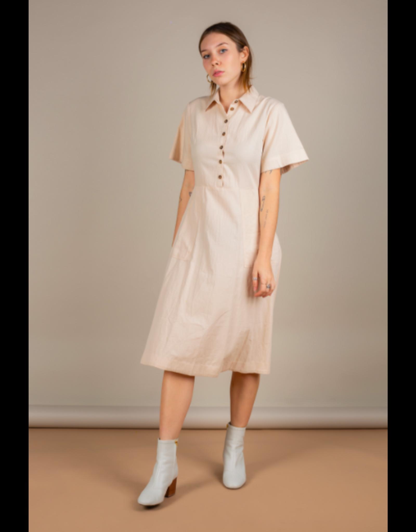 SALE - No Less Than - Button Up Dress