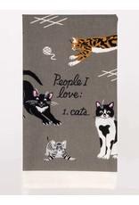 Blue Q Blue Q - Dish Towel/People I Love: Cats