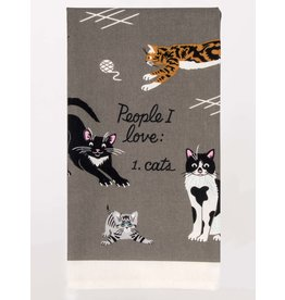 Blue Q Blue Q - Dish Towel/People I Love: Cats