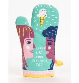 Blue Q - Oven Mitt/Let's Eat Your Feelings Too