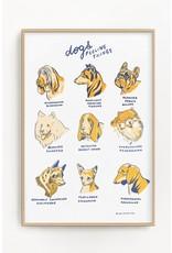 "Stay Home Club Stay Home Club - Riso Print/Dogs Feeling Things 11"" x 17"""