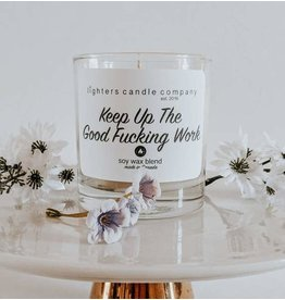Lighters Candle Co Lighters Candle - Keep Up The Good F'in Work Tobacco