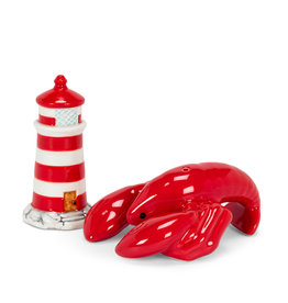 ATT - Lighthouse & Lobster Salt & Pepper Shakers