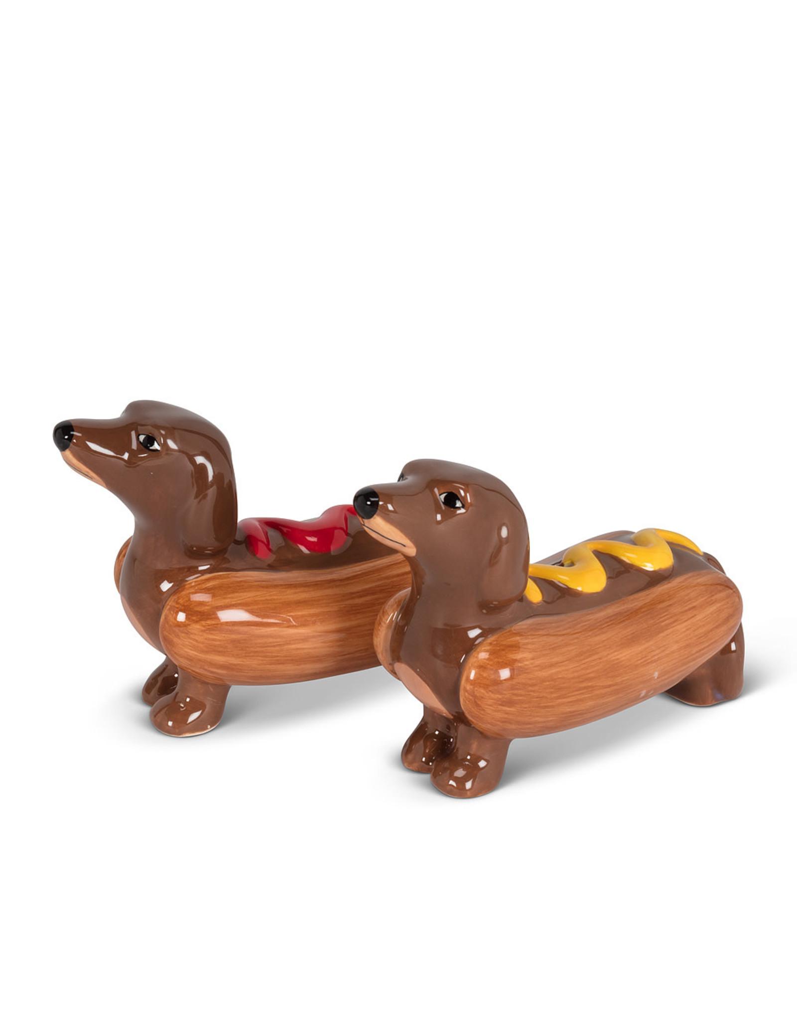 ATT - Dachsund Weiner Dog/Hot Dog Salt & Pepper Shakers