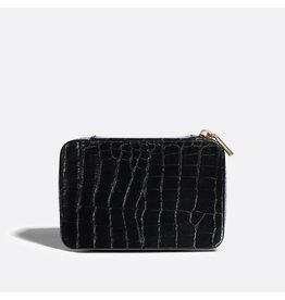 Pixie Mood - Travel Jewelry Case Blake Black Croc