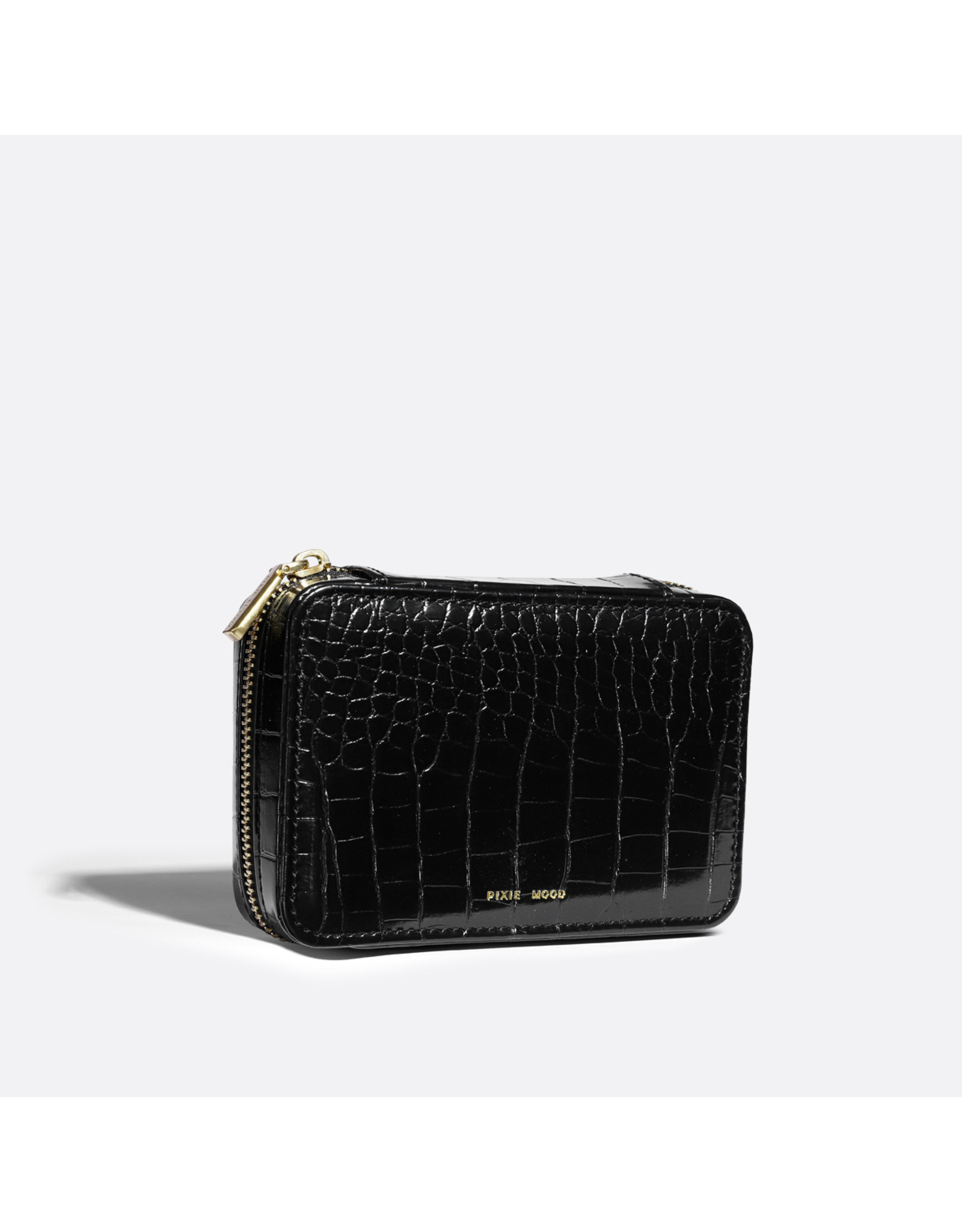 Pixie Mood - Blake Travel Jewelry Case Black Croc