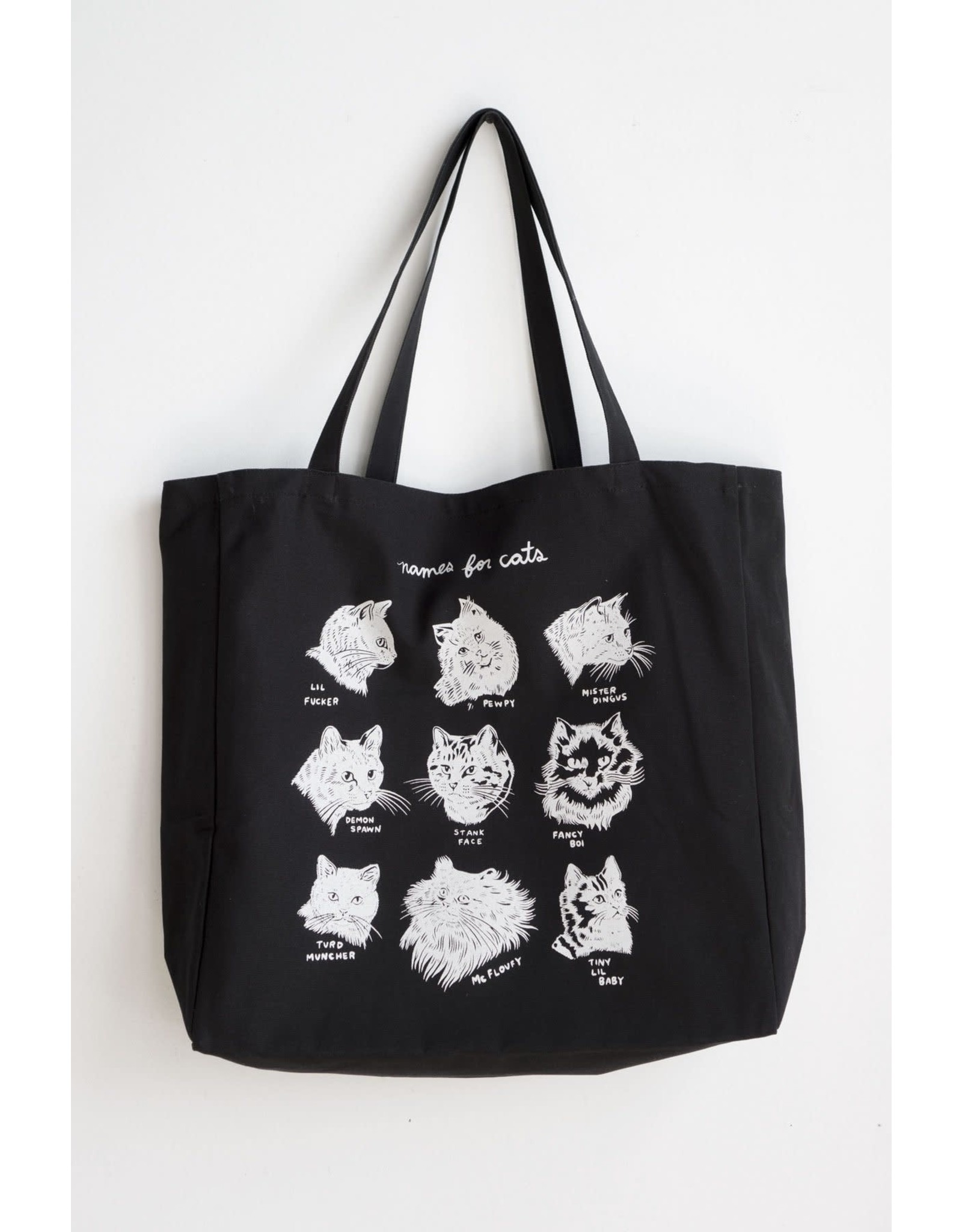 Stay Home Club - XL Tote Bag/Names For Cats Black