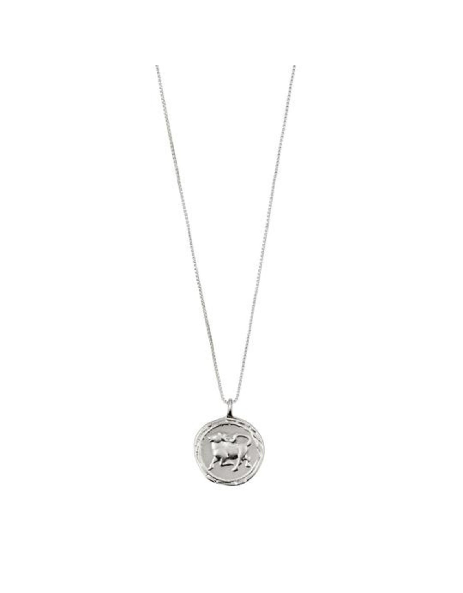 Pilgrim - Taurus Necklace/Silver Crystal