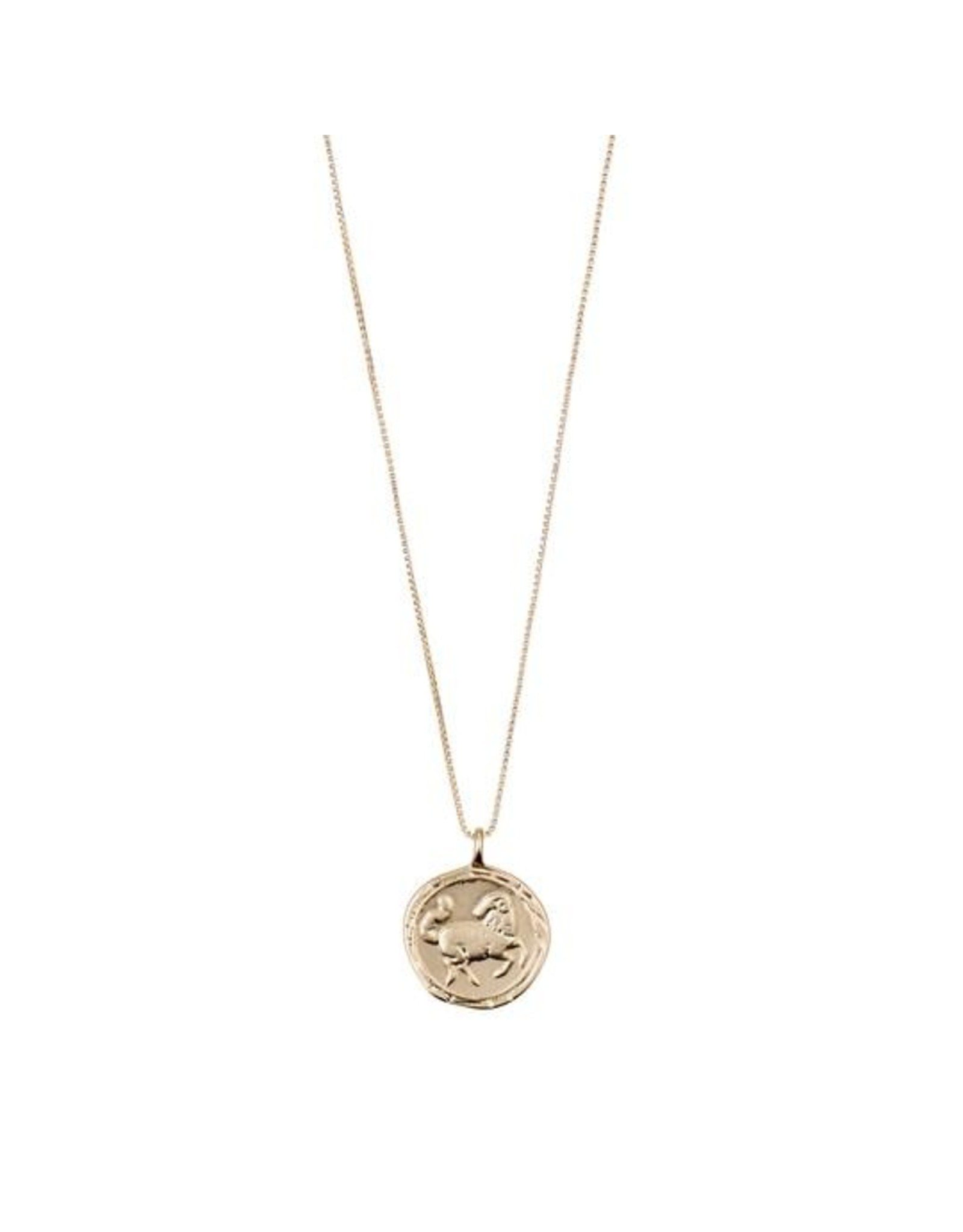 Pilgrim - Aries Necklace/Gold Crystal