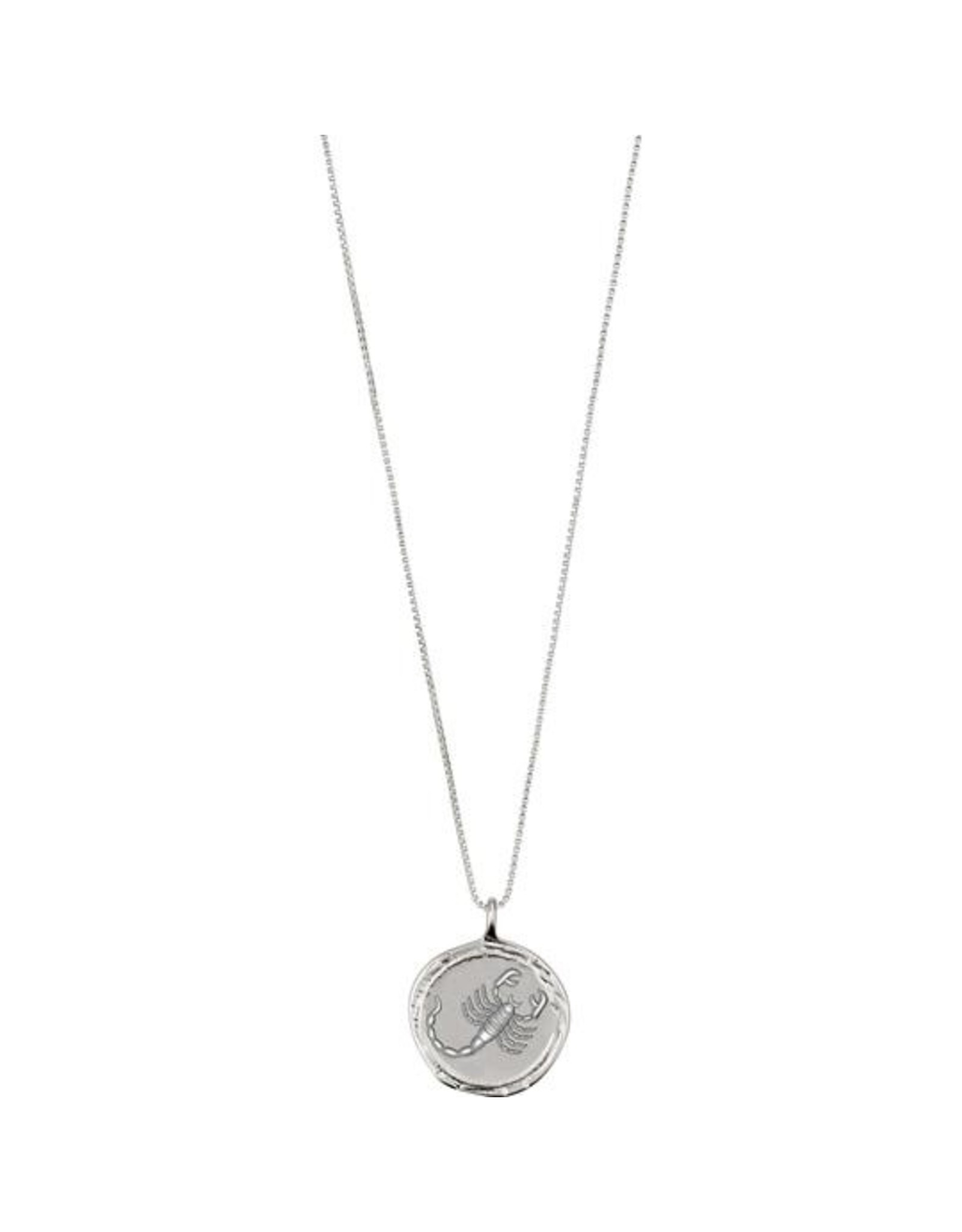 Pilgrim - Scorpio Necklace/Silver Crystal