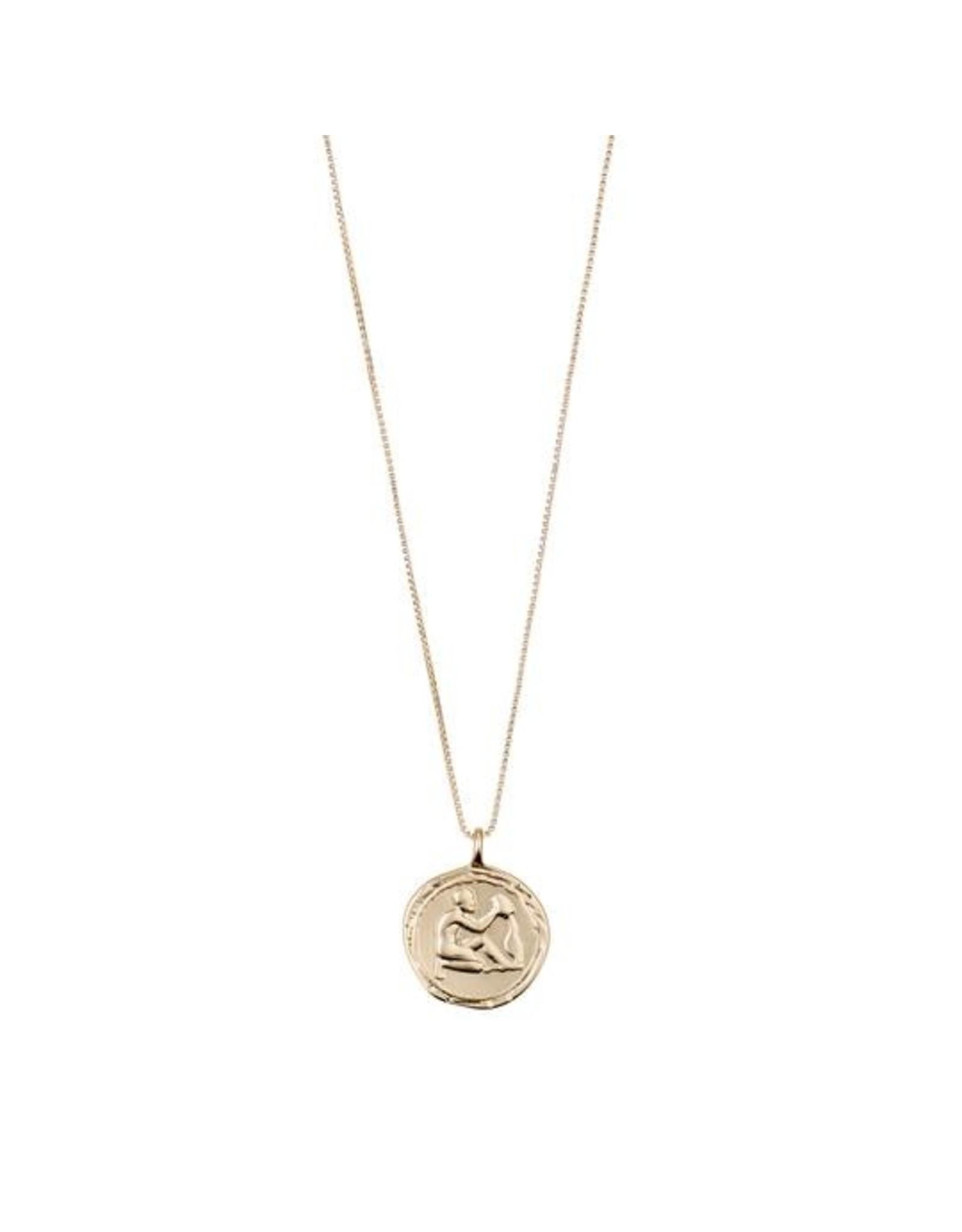 Pilgrim - Aquarius Necklace/Gold Crystal