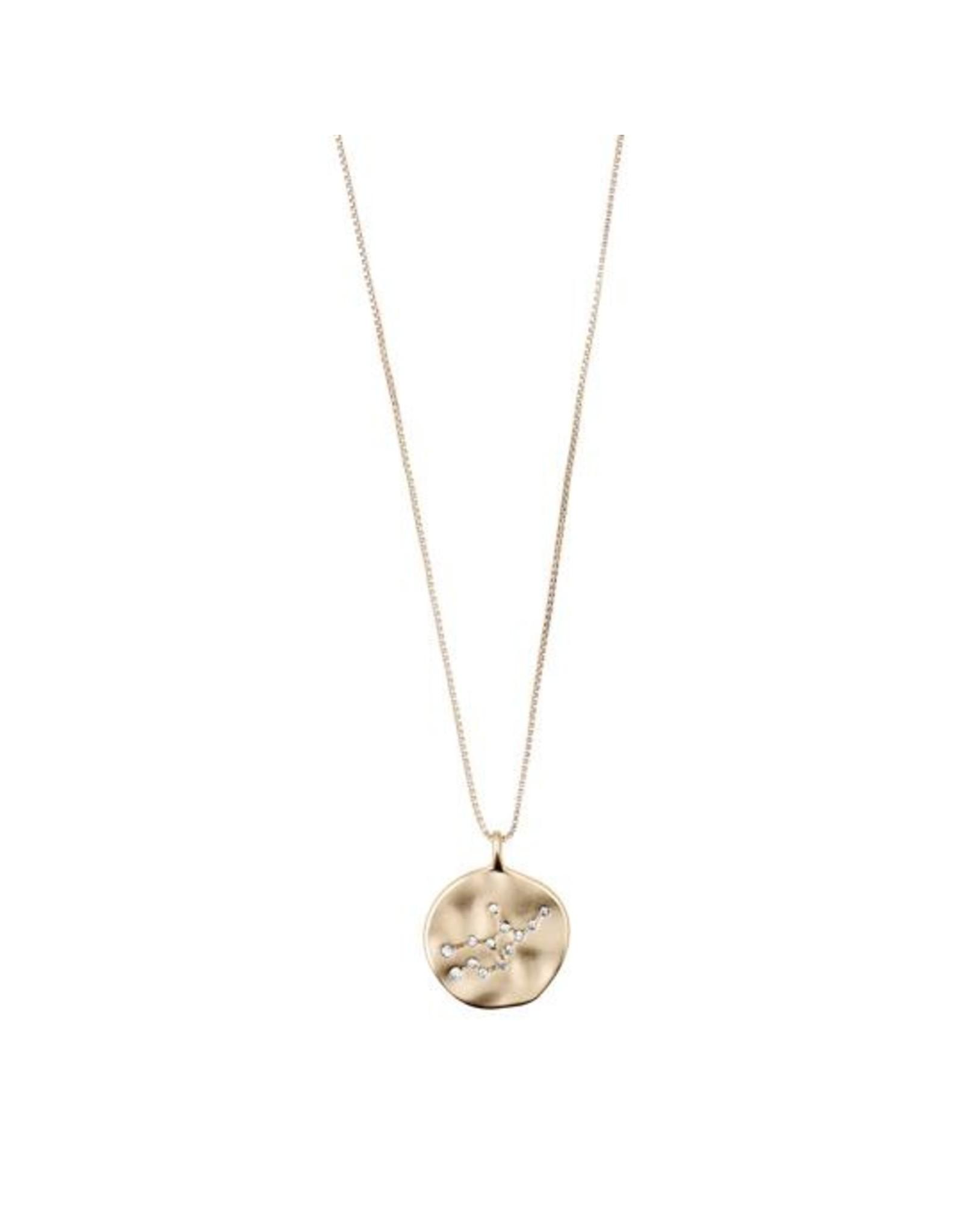 Pilgrim - Virgo Necklace/Gold Crystal