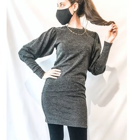 Bonanza - Puff Sleeve Sweater Dress