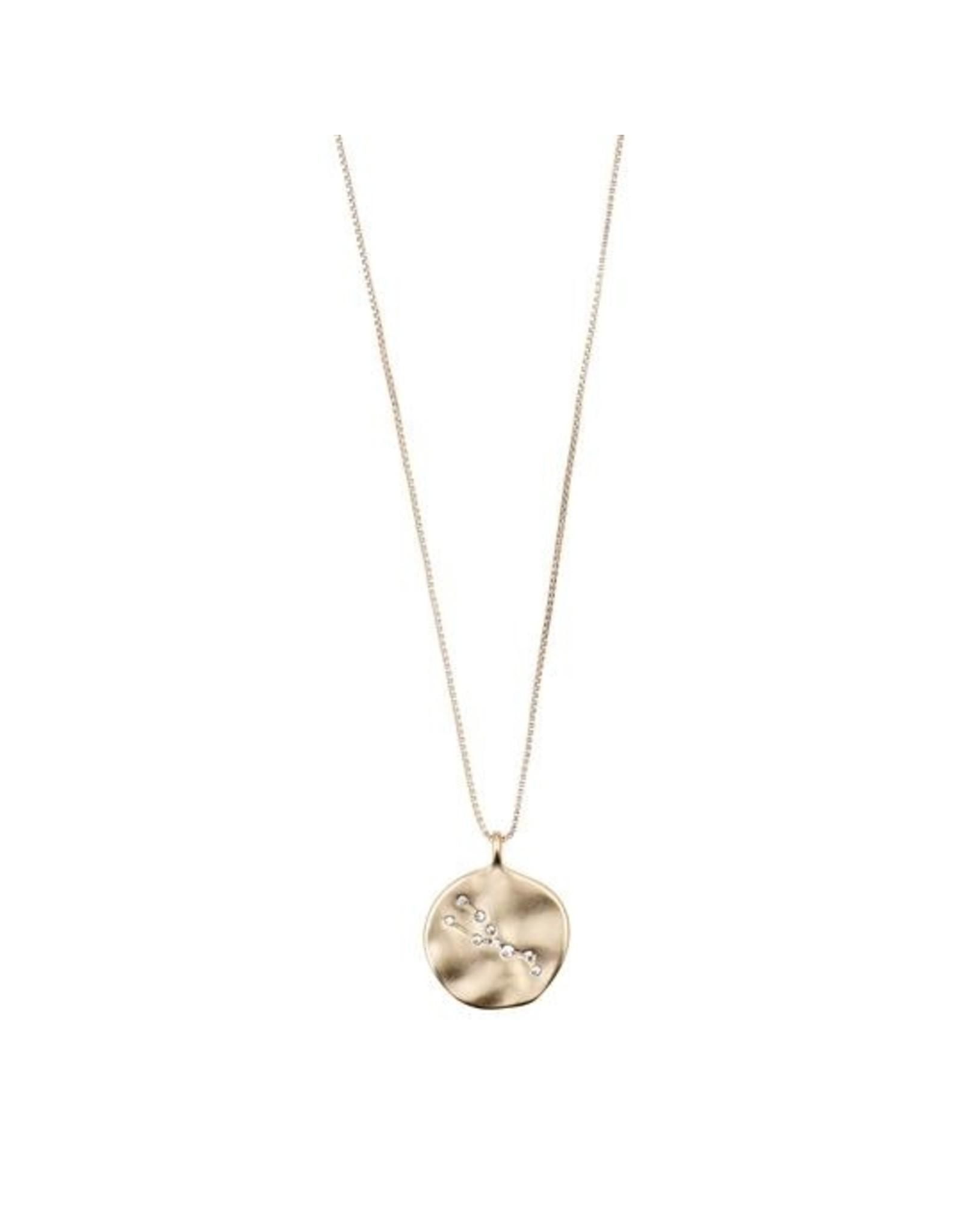 Pilgrim - Taurus Necklace/Gold Crystal