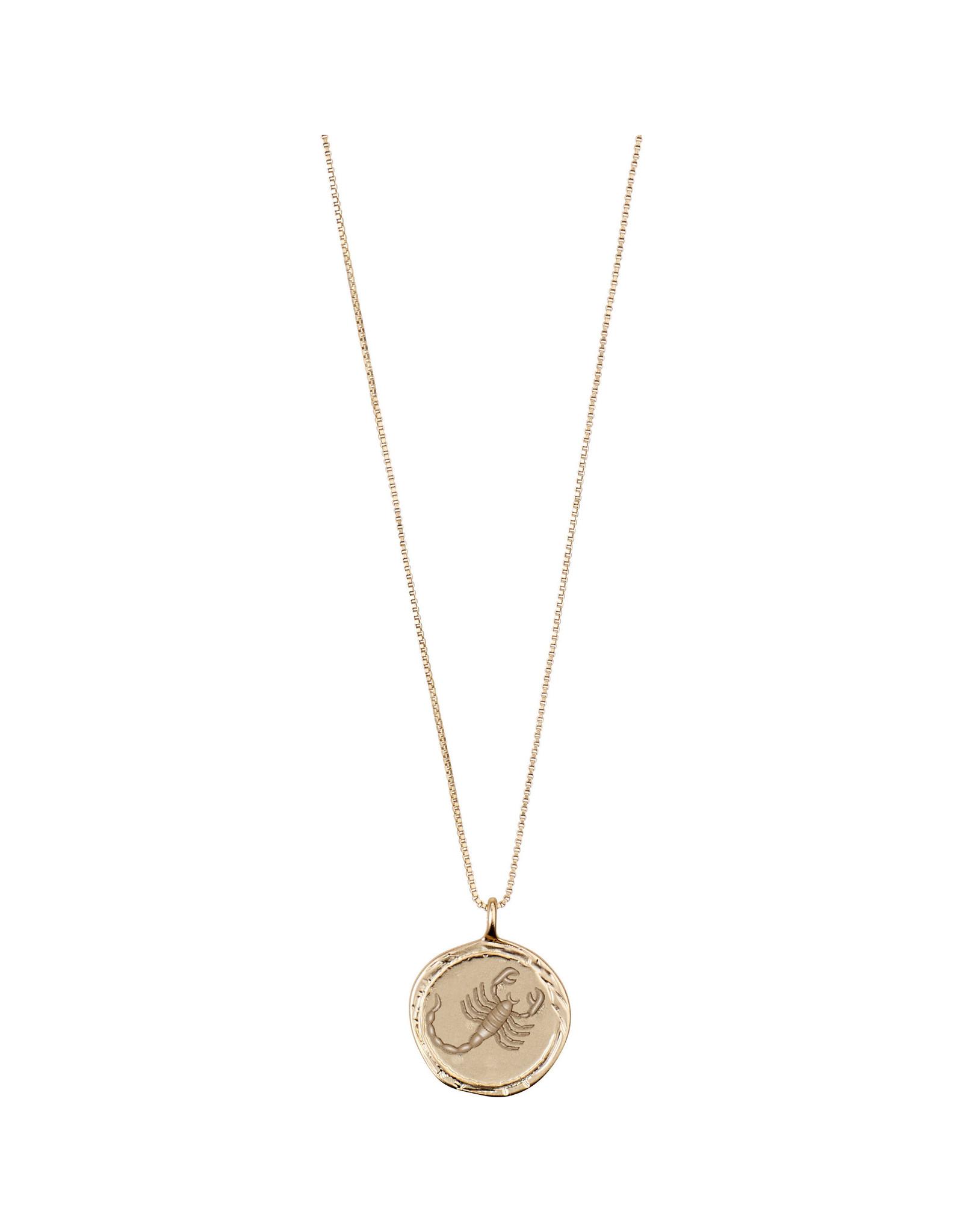 Pilgrim - Scorpio Necklace/Gold Crystal