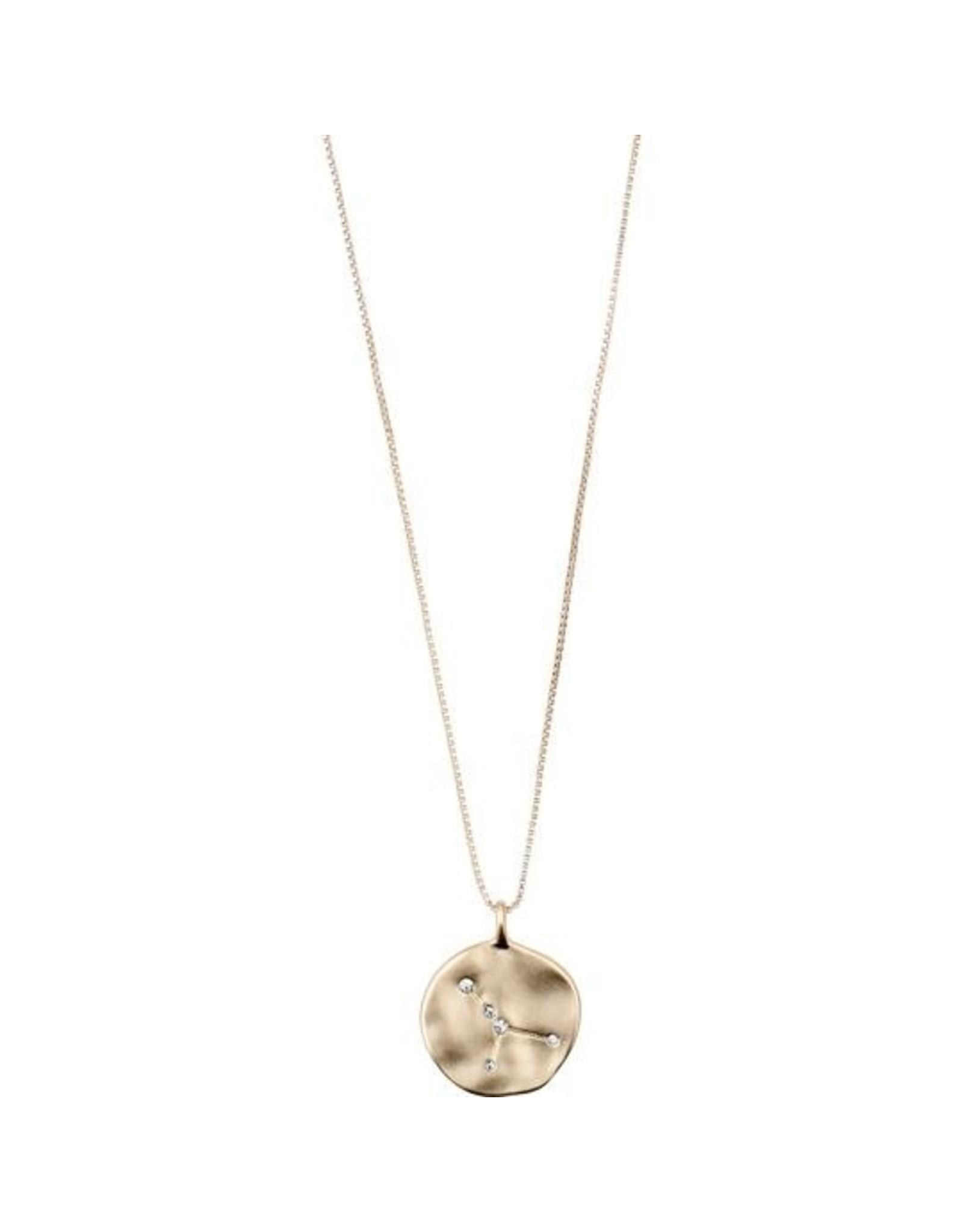 Pilgrim - Cancer Necklace/Gold Crystal