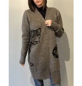 Bonanza - Here Kitty Oversized Cardigan