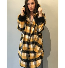 Bonanza - Plaid Sherpa Coat