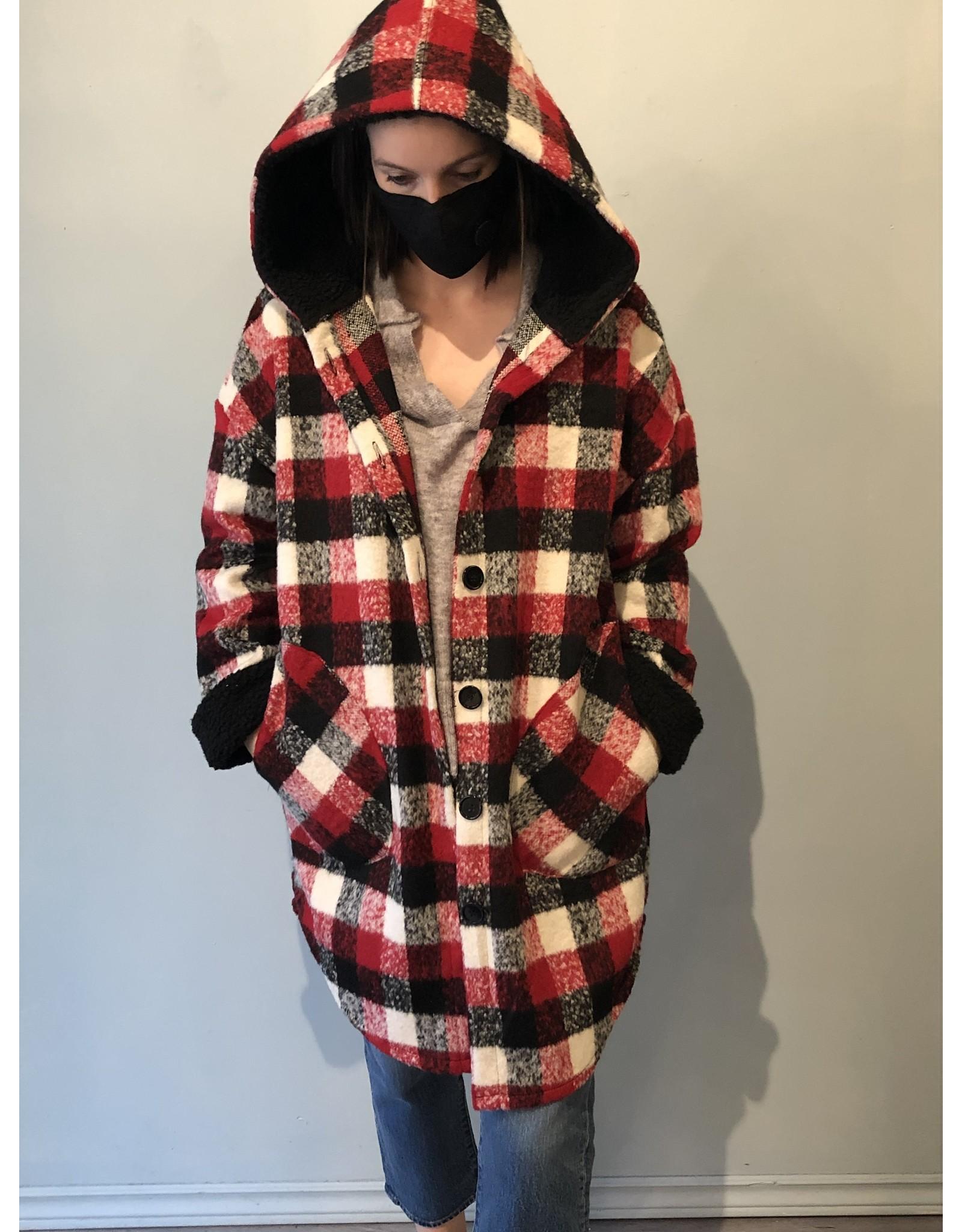 Bonanza - Plaid Sherpa Coat
