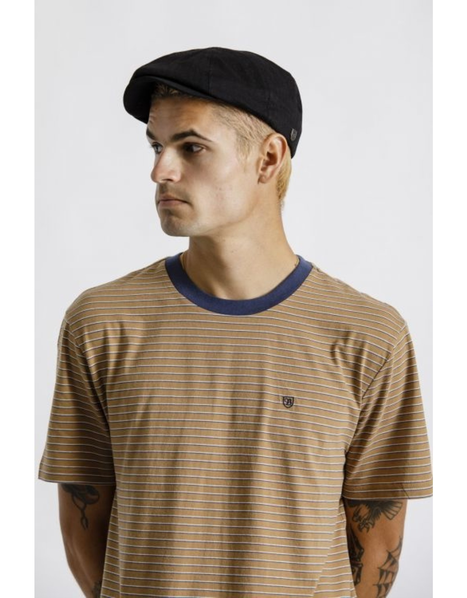 Brixton - Linen Brood Snap Cap