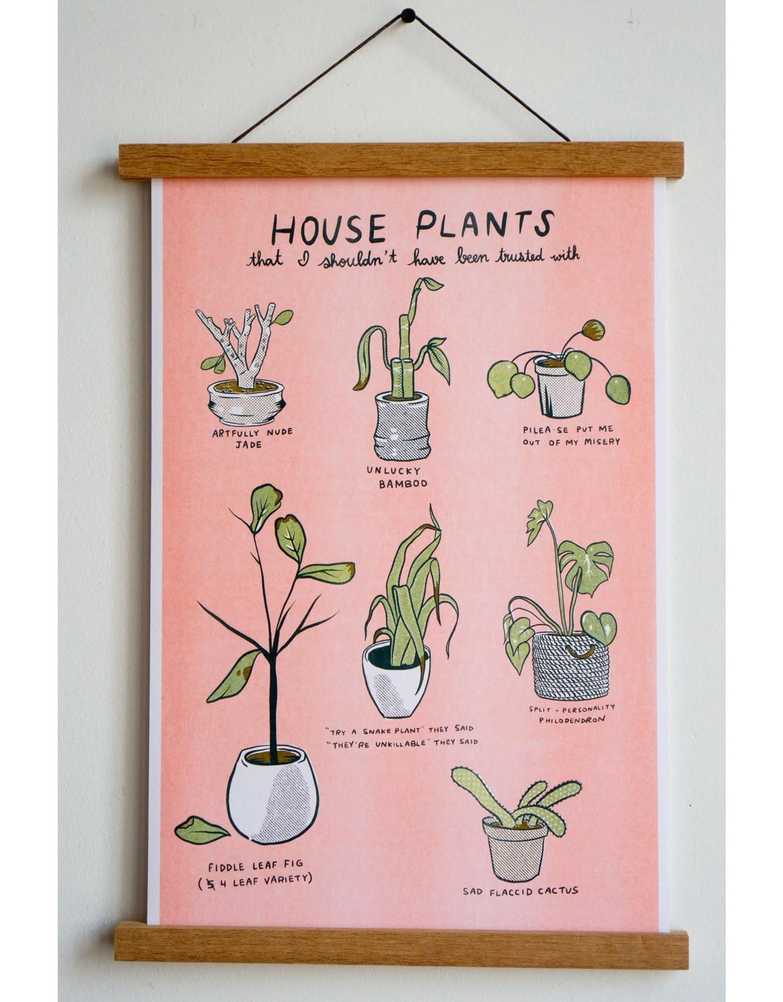 "Stay Home Club - Riso Print/Unfortunate Plants 11"" x 17"""