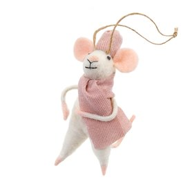 IBA - Felted Ornament/Pink Sweater Mouse