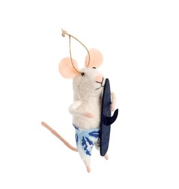 IBA - Felted Ornament/Surfer Mouse