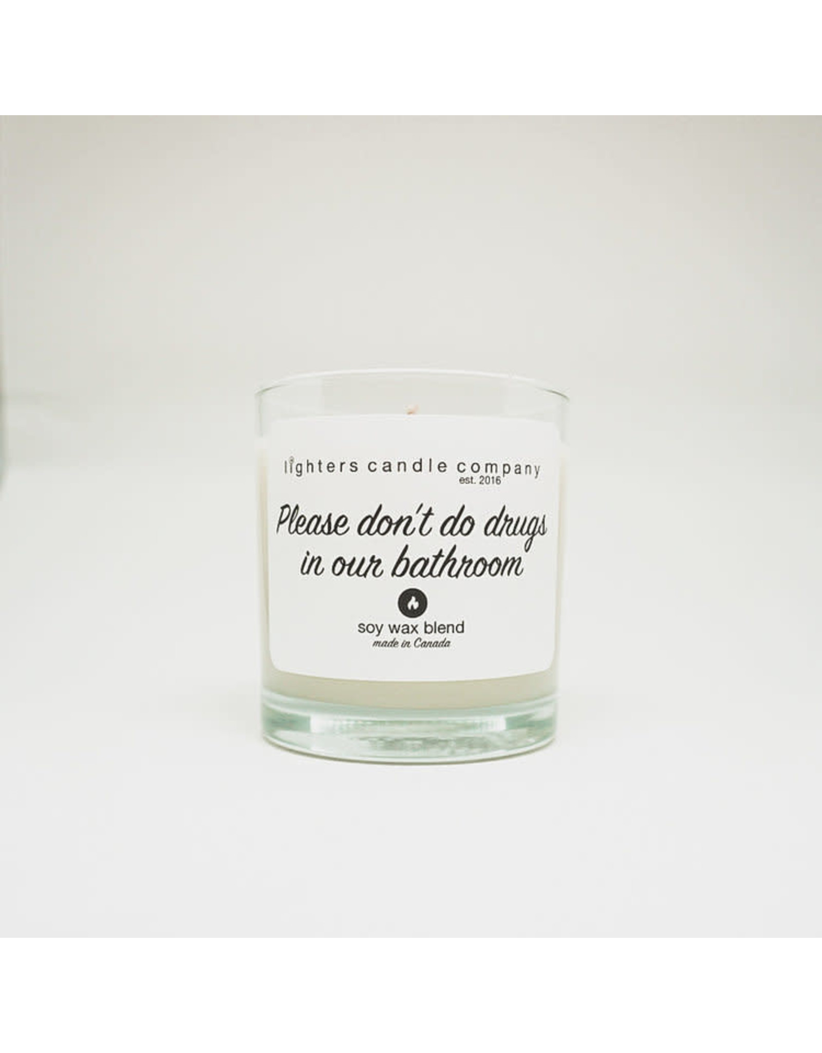 Lighters Candle - Please Don't Do Drugs in our Bathroom/ Pineapple Mango