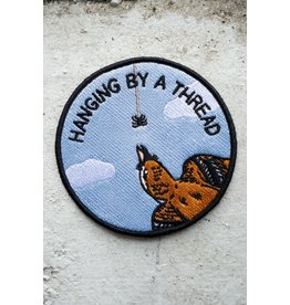 Stay Home Club - Iron On Patch/Hanging by a Thread