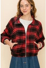 Bonanza - Plaid Zip Up Jacket