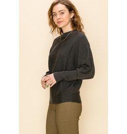 Bonanza - Ribbed  Dolman Sleeve Sweater