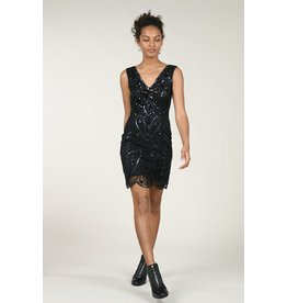MLY - Sequin V-Neck Dress