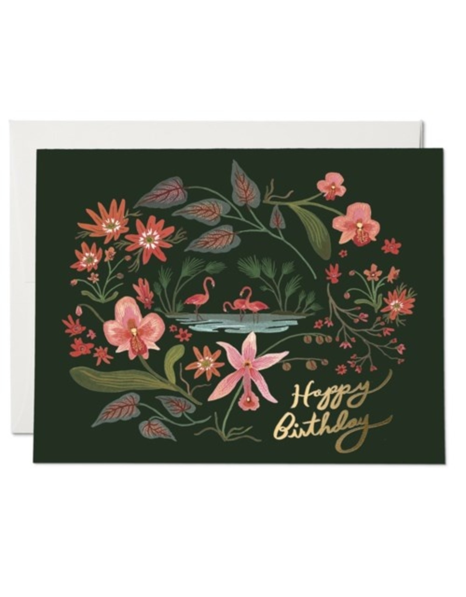 PPS - Flamingo Birthday Card