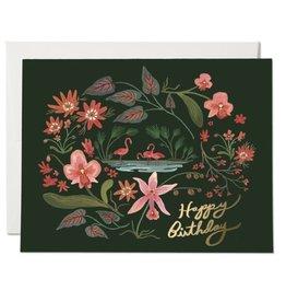 PPS - Flamingo Birthday Card