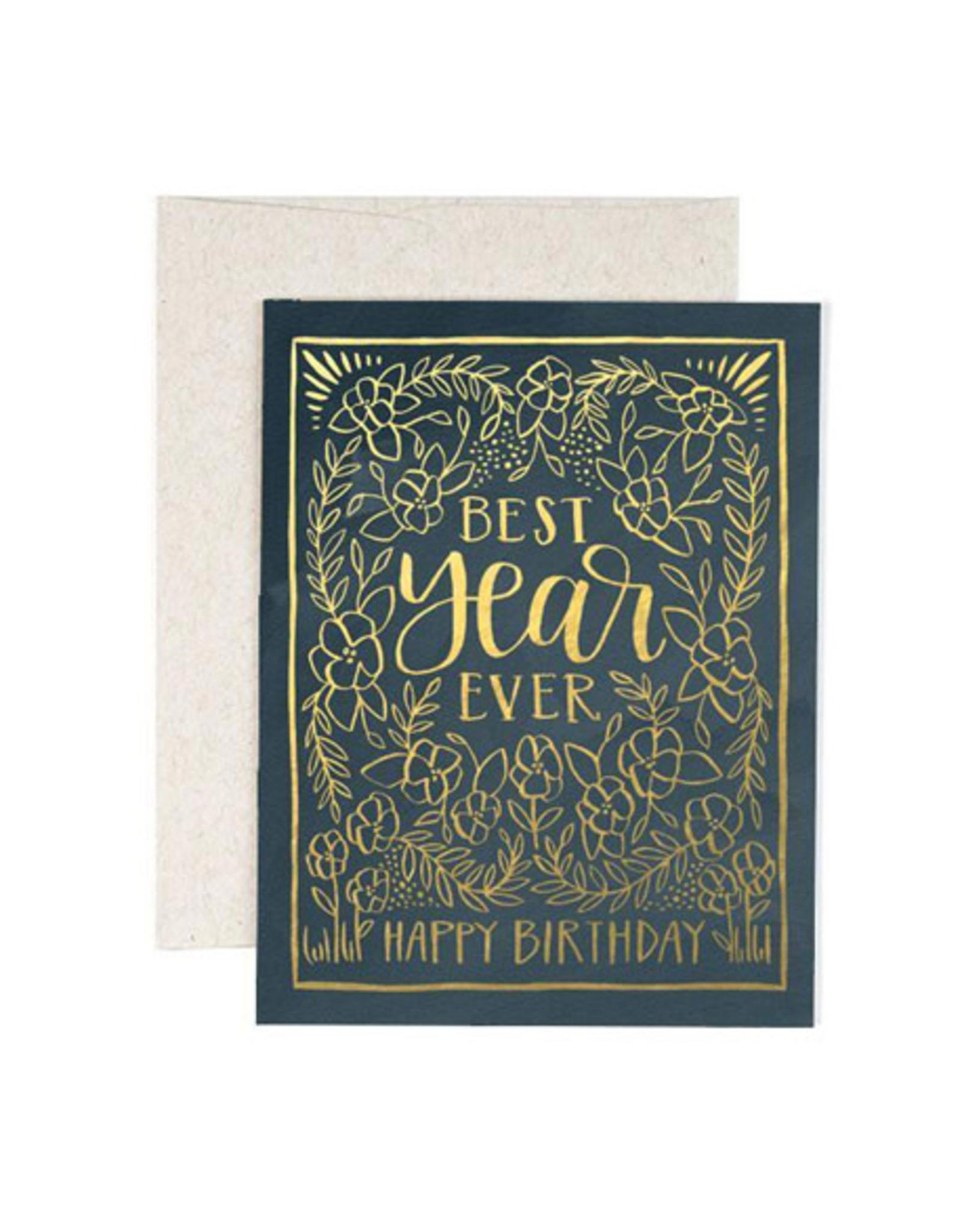 ELE - Card/ Best Year Ever Birthday