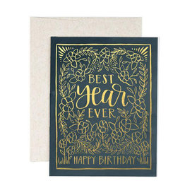 ELE - Best Year Ever Birthday Card