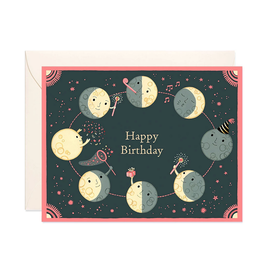 JJP - Moon Phases Birthday Card