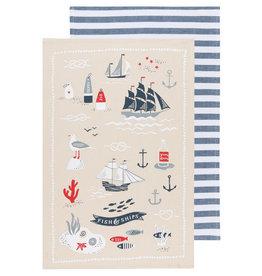 DCA - Tea Towel Set/Ships Ahoy