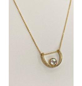 Luna Pendant Necklace/Abalone