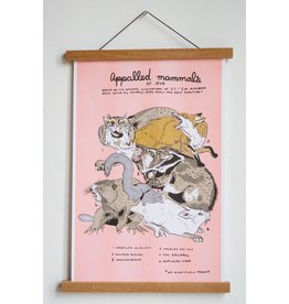 "Stay Home Club - Riso Print/Appalled Mammals 11"" x 17"""