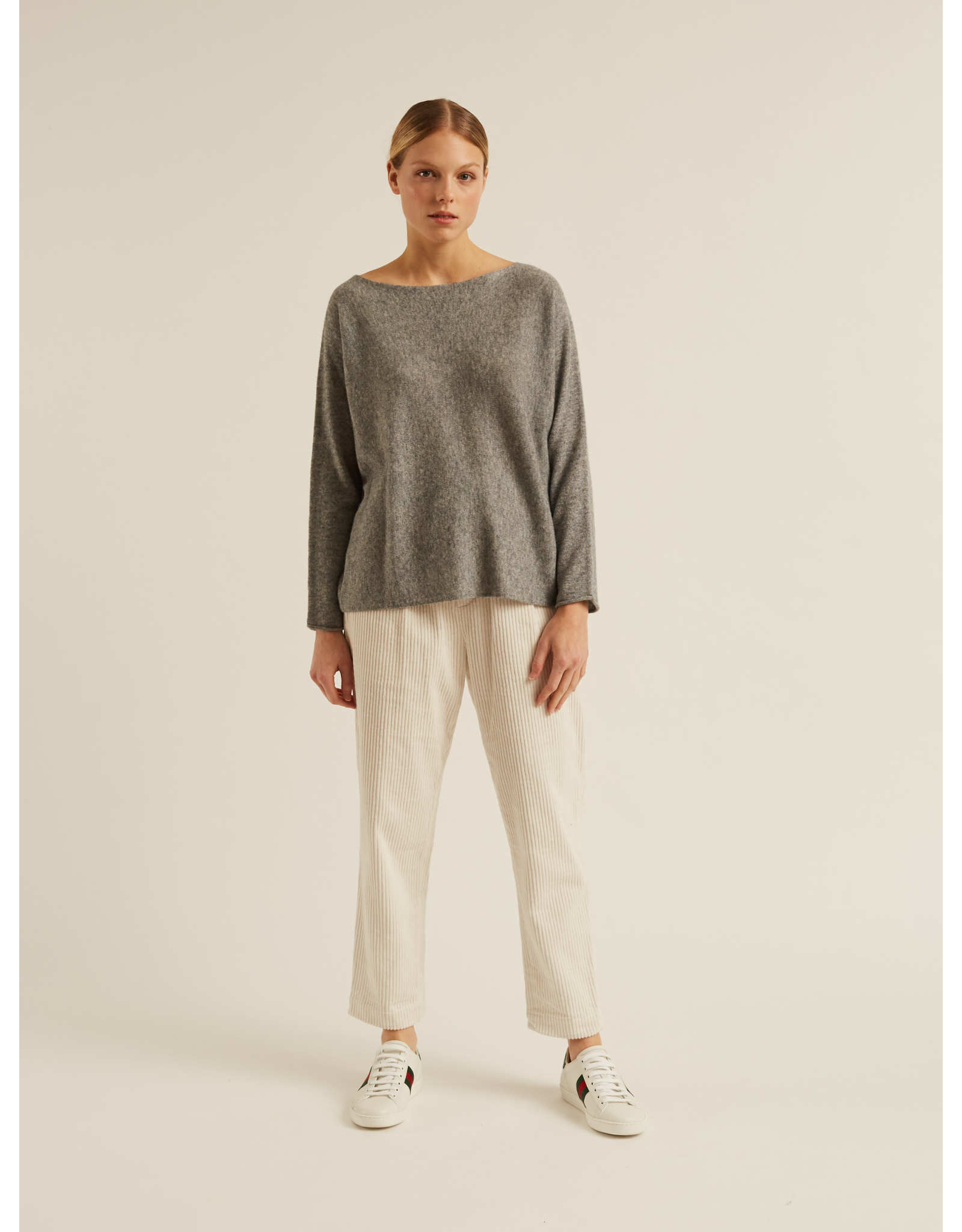 Naif - Mist Boatneck Cashmere Sweater