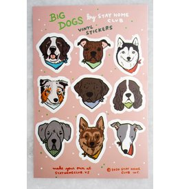 Stay Home Club - Sticker Sheet/Big Dogs