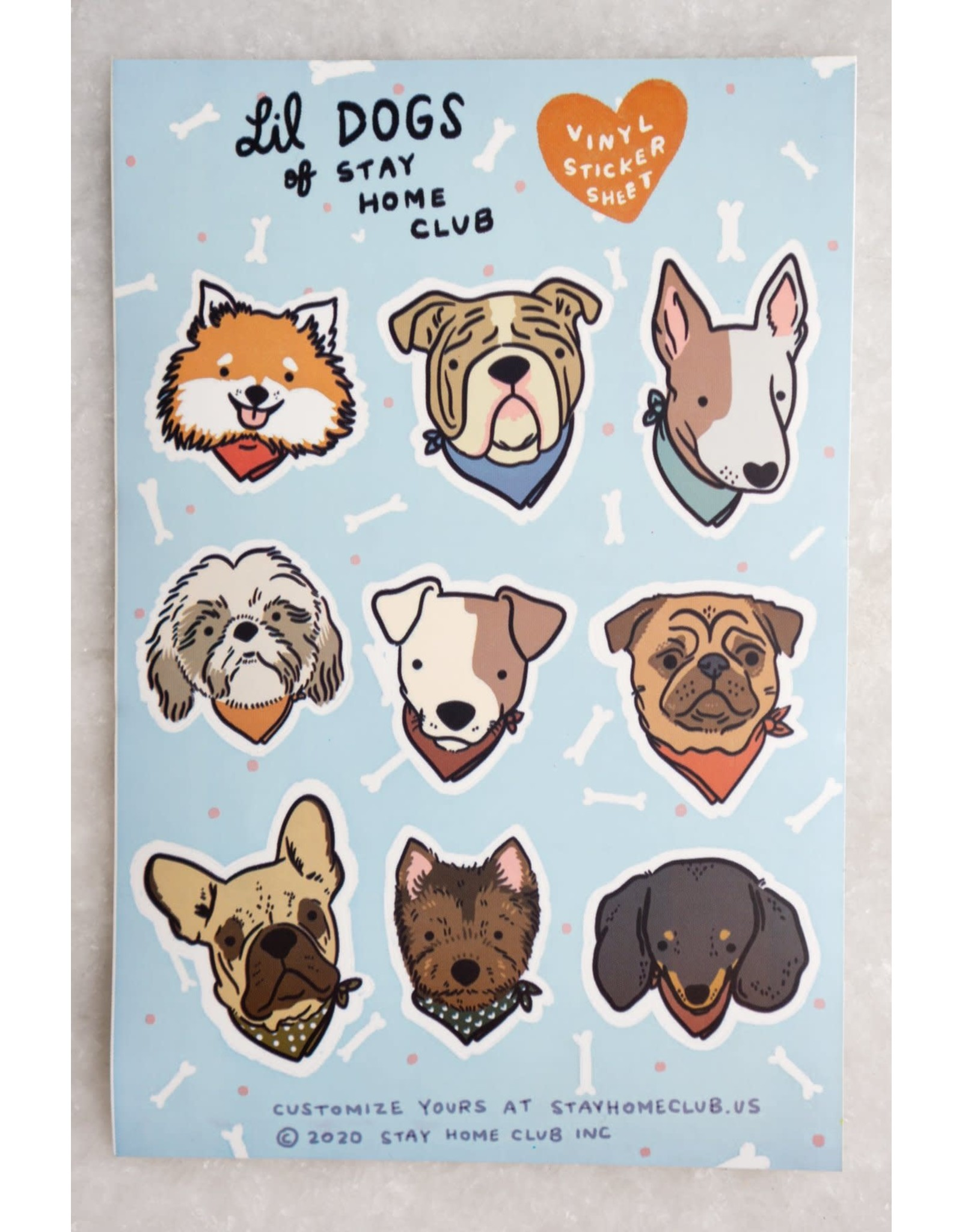 Stay Home Club - Sticker Sheet/Lil Dogs