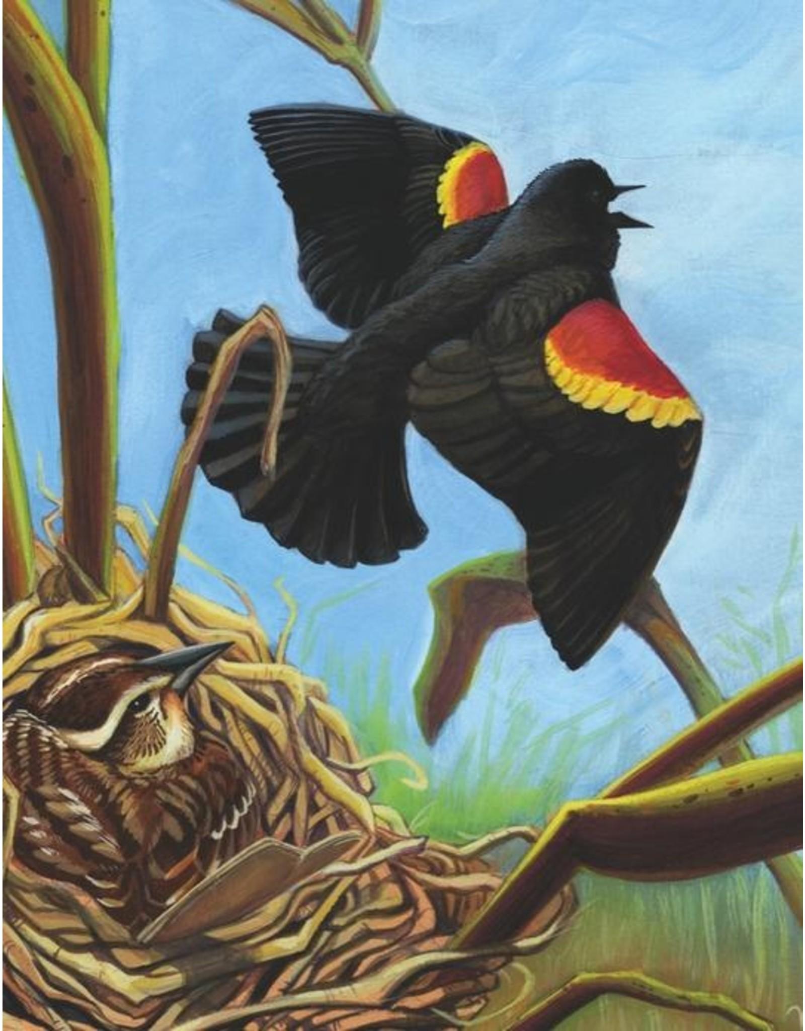 NLE - Mini Puzzle Red-Winged Blackbird / 100pcs