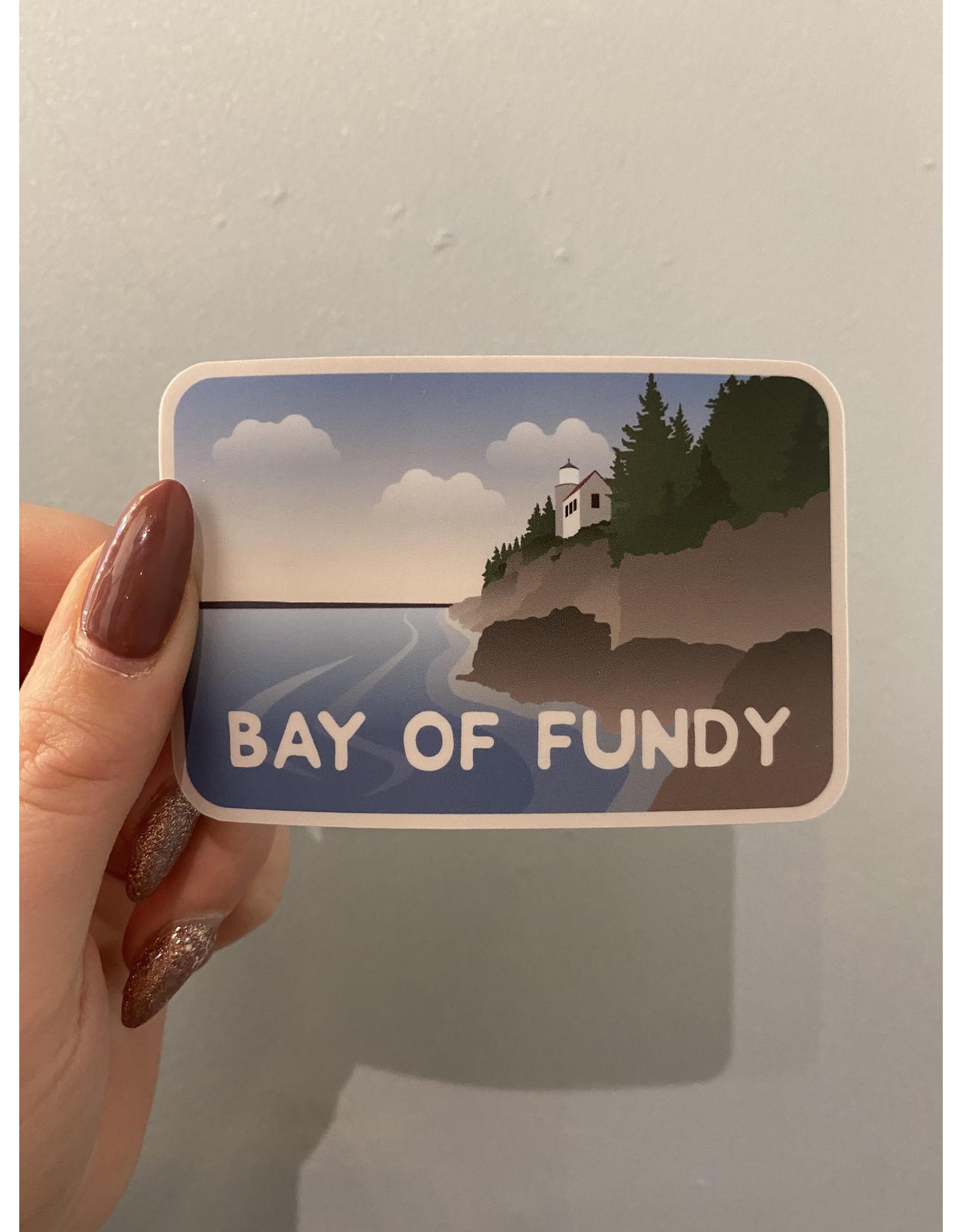 SST - Bay Of Fundy Sticker