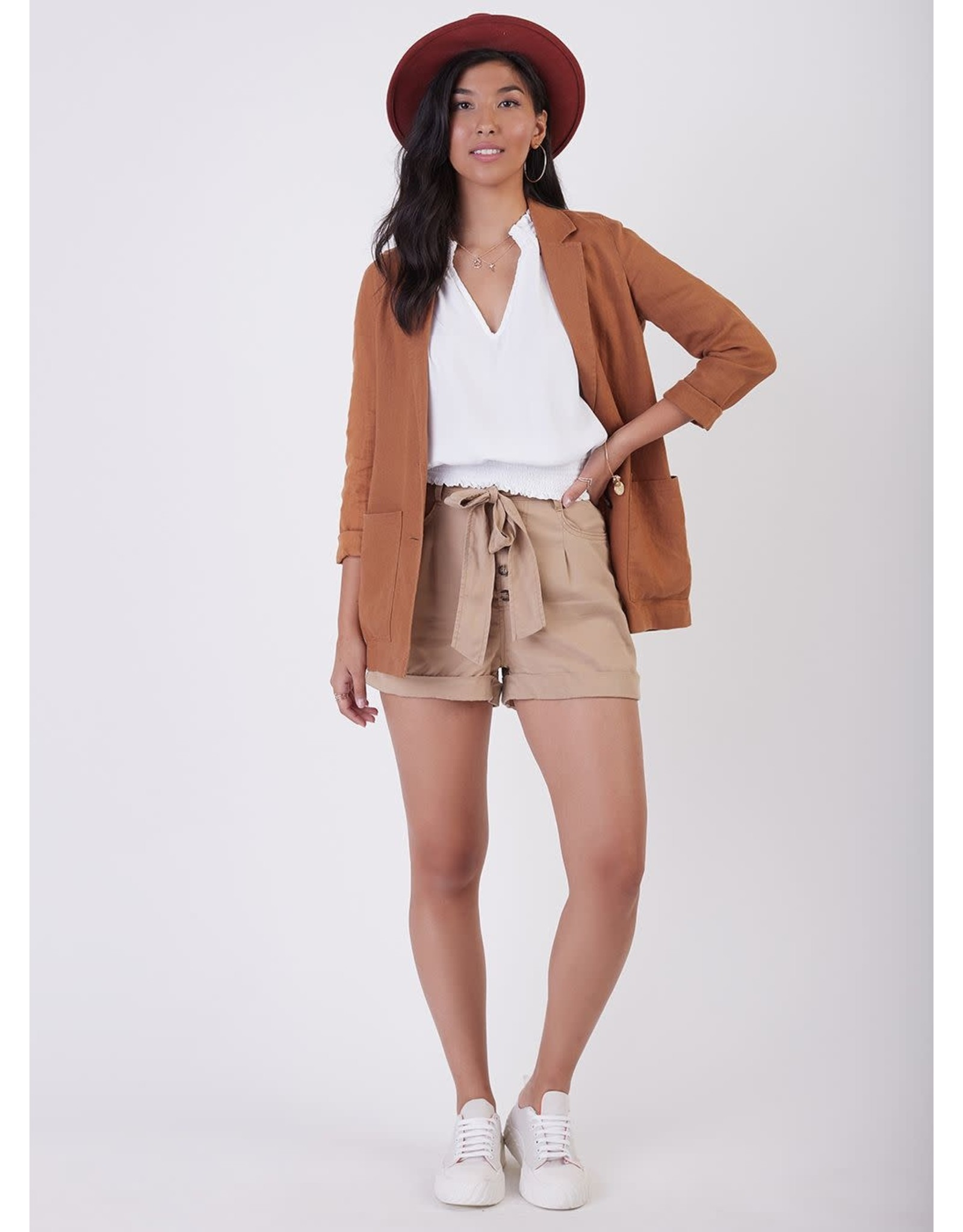 BPE - Linen Jacket in Tobacco or Eggshell